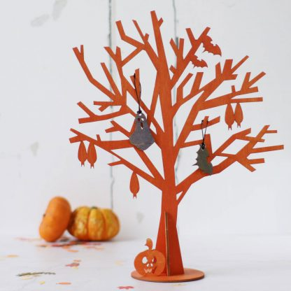 Halloween Tree Orange (shown with optional decorations)