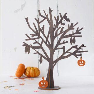 Halloween Tree Black (shown with optional decorations)