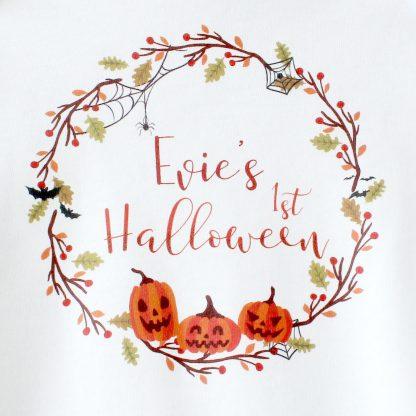 First Halloween Babygrow, Personalised