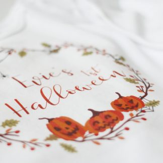 First Halloween Babygrow, Personalised