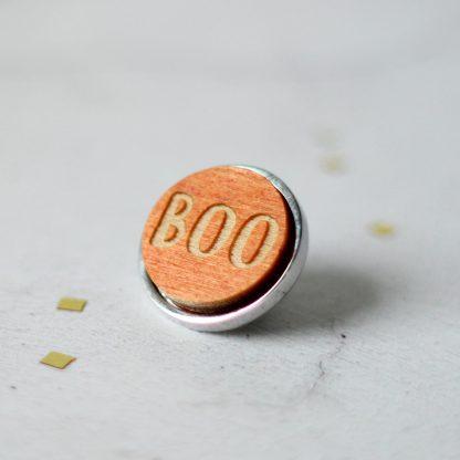 Halloween Lapel Pin, Boo