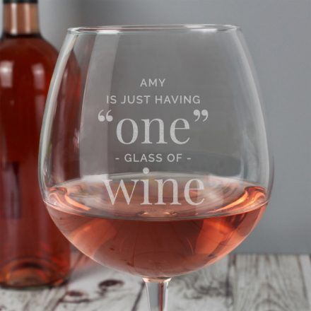 Personalised Wine Glass, Just The One