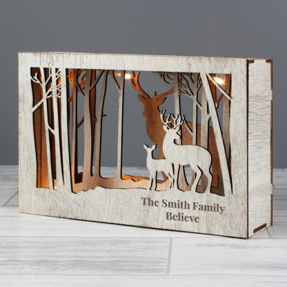 Personalised Reindeer LED Christmas Scene