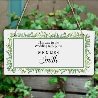 Botanical Wedding Sign, Personalised