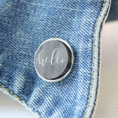 Luxury Lapel Pin, Hello