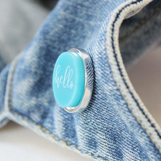 Luxury Lapel Pin, Hello