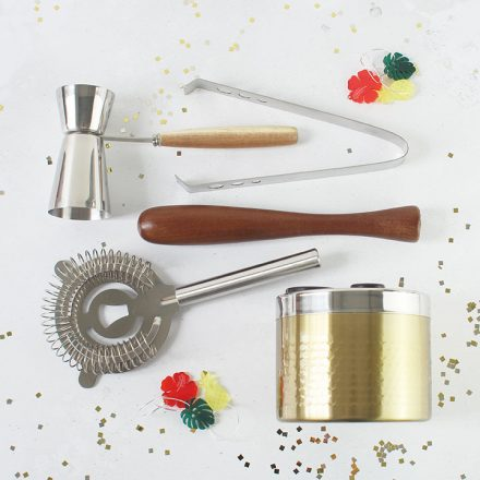 Cocktail Tool Set In Stand