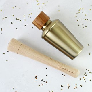 Mini Cocktail Shaker With Personalised Muddler