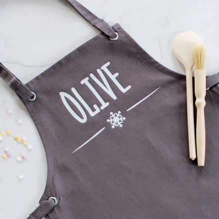 Personalised Kids Apron, Snowflake