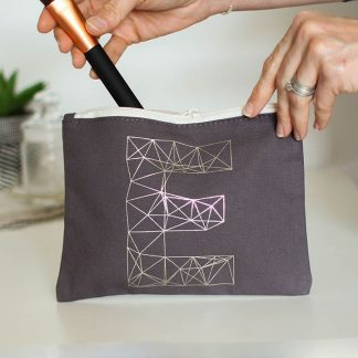 Personalised Make Up Bag, Letter