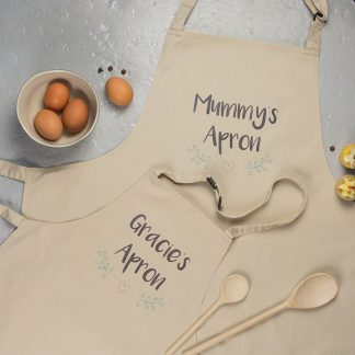 Mum And Me Apron Set, Personalised