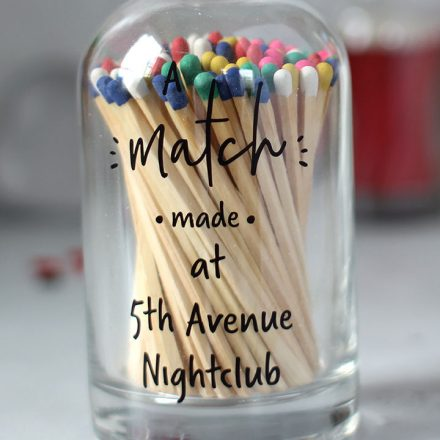 Personalised Bottle Of Matches, Match Made