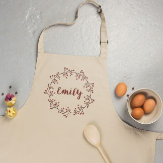 Personalised Wreath Apron