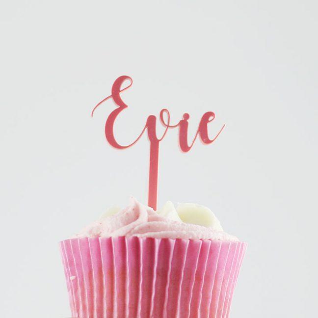 Personalised Name Cupcake Topper