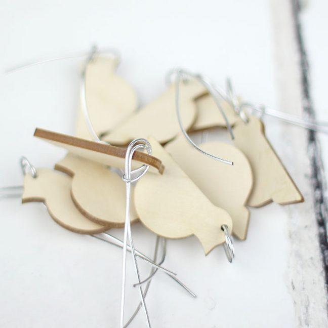 Hanging Bird Decorations, Set Of 12