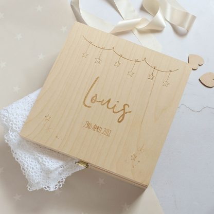Personalised Baby Keepsake Box