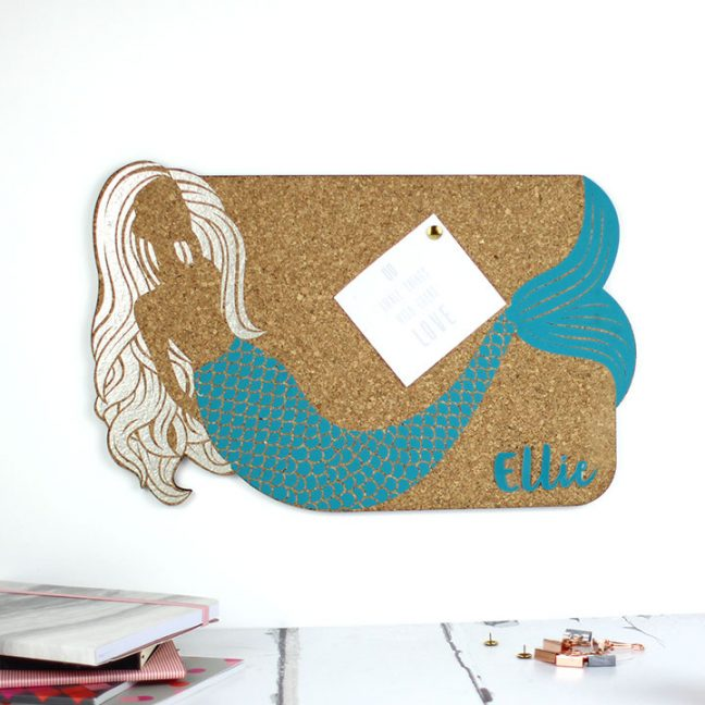 Personalised Mermaid Pin Board