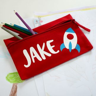 Personalised Pencil Case, Rocket