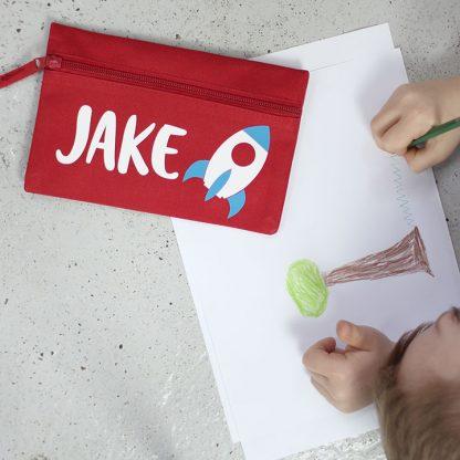 Personalised Pencil Case, Rocket