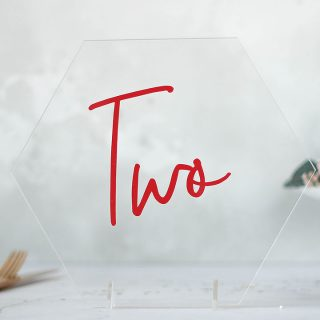 Geometric Clear Acrylic Table Number