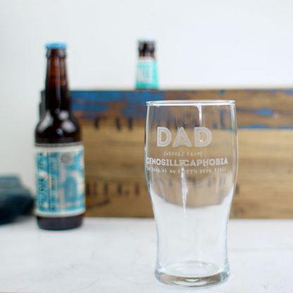 Dad's Beer Glass