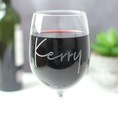 Personalised Wine Glass With Name