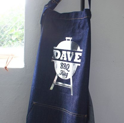 Personalised Denim Bbq Apron