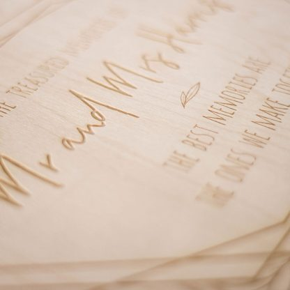 Personalised Wedding Memory Keepsake Box