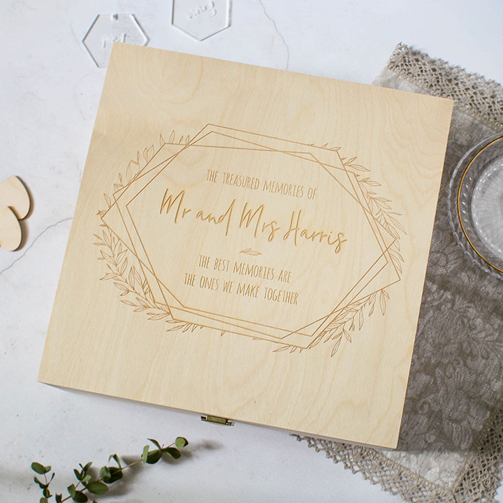 Personalised Wedding Memory Keepsake Box