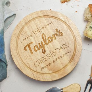 Personalised Cheeseboard With Knives Set