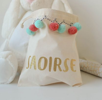 Personalised Pompom Party Bag