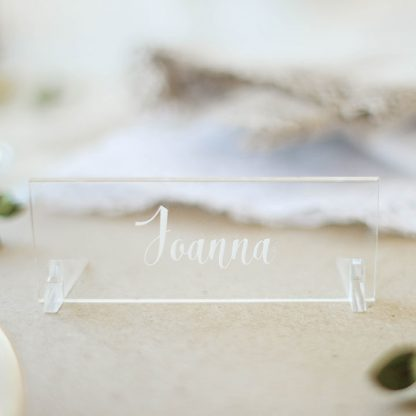 Clear Acrylic Place Settings, Personalised