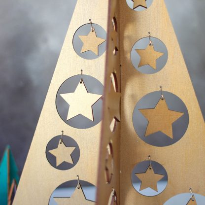 Bronze Christmas Tree With Star Decorations