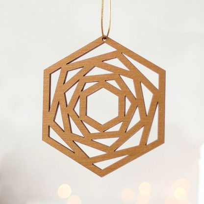 Bronze Geometric Christmas Tree Decoration