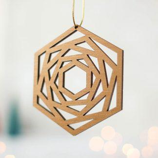 Bronze Geometric Christmas Tree Decoration