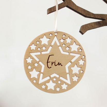 Christmas Tree Decoration, Star Cutouts