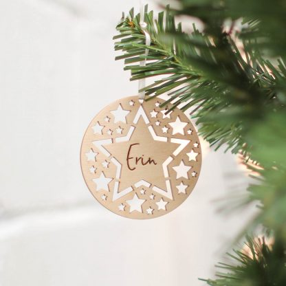 Christmas Tree Decoration, Star Cutouts