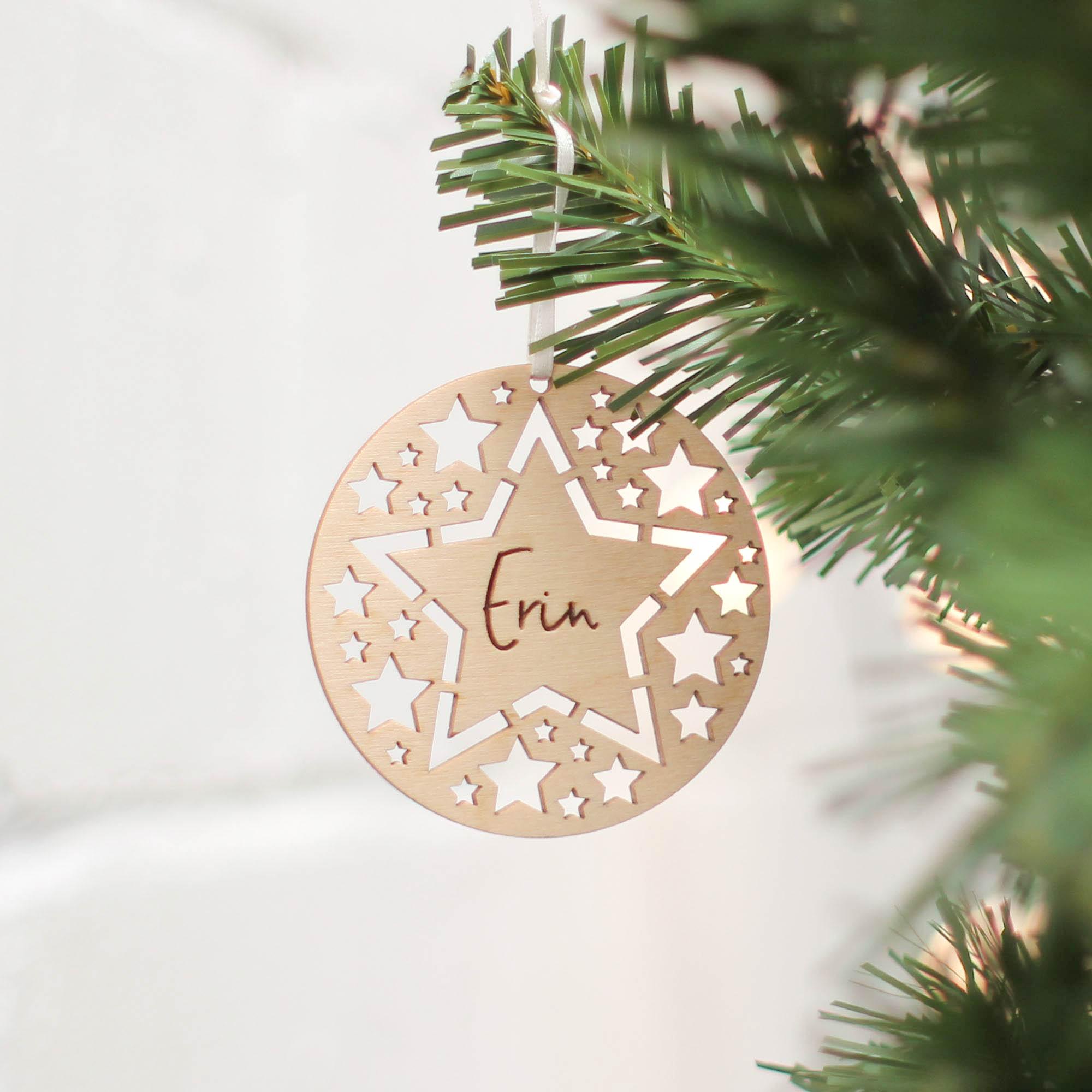 Christmas Tree Decoration, Star Cutouts - Rocket and Fox