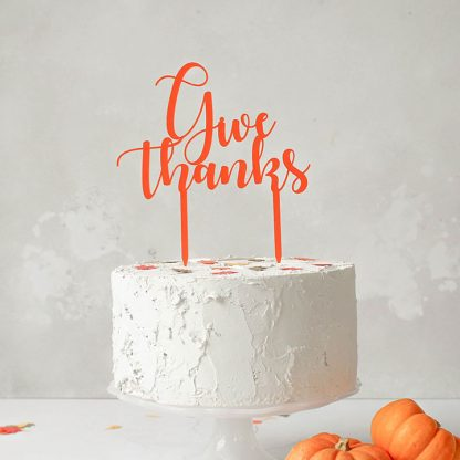 Give Thanks Cake Topper