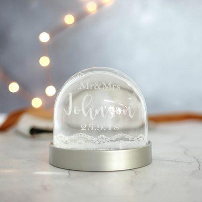 Personalised Wedding Snow Globe