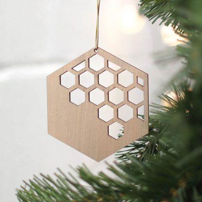 Geometric Bronze Tree Decoration Set