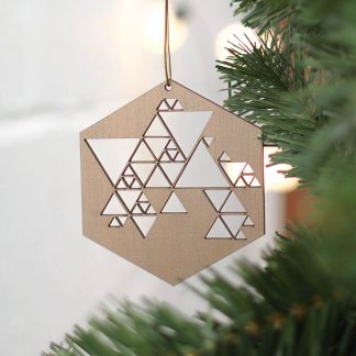 Geometric Bronze Tree Decoration Set