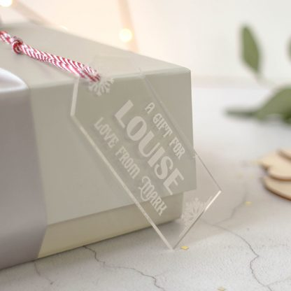 Personalised Snowflake Gift Tag