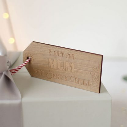 Personalised Bronze Gift Tag