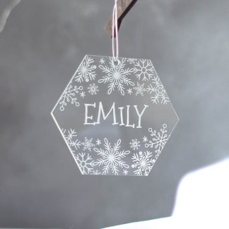 Snowflake Tree Decoration Hexagon