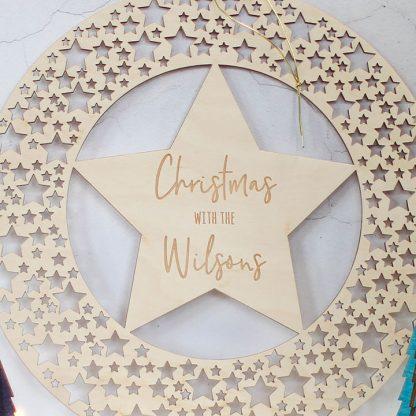 Christmas Wreath, Star Cutout