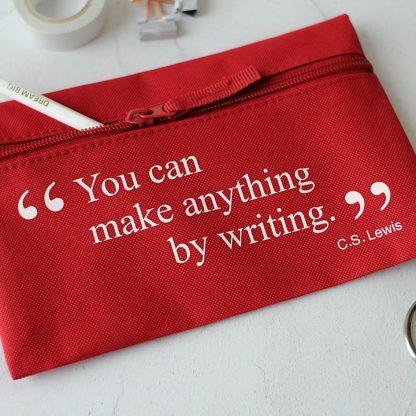 Pencil Case, Cs Lewis Quote