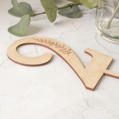 Wooden Table Number, Botanical