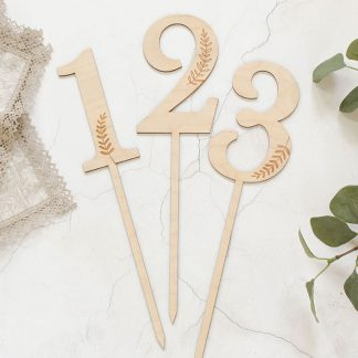 Wooden Table Number, Botanical