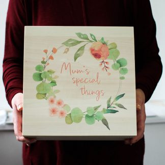 Personalised Mum's Special Things Keepsake Box